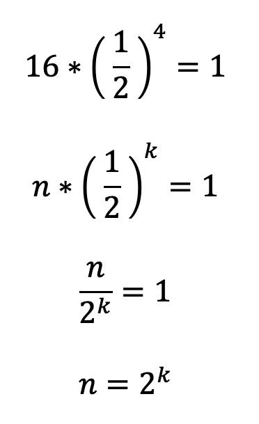 Complexitatea cautarii binare